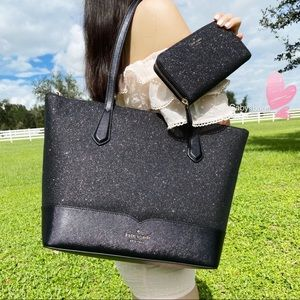 BUNDLE💞Kate Spade Glitter Tote & Wallet